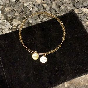 "Alex and Ani gold hues crystal ""Energy "" bracelet"